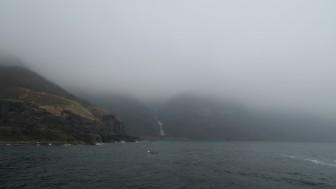 霧の知床半島
