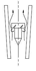 フロートを回転させて姿勢を安定する