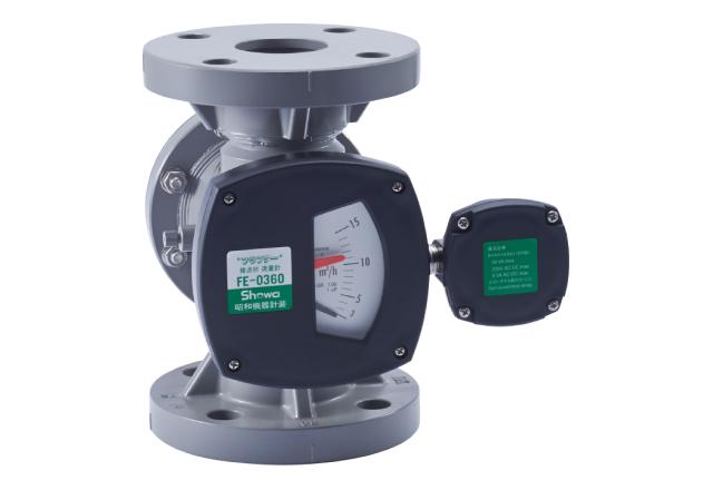 PVC製フラプター流量計(接点付き)FE-0360_PVC_下→上